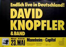 KNOPFLER, DAVID - DIRE STRAITS - 1983 - Konzertplakat - Tourposter - Mannheim