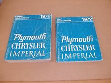 1972 Plymouth Chrysler Imperial Cuda Satellite Duster shop service manual SET