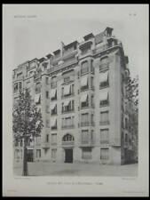 PARIS, 2 PLACE JOFFRE - 4 PLANCHES - 1929 - ARCHITECTURE, DUBOUILLON