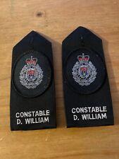 Ex Police Epaulette Sgt Chevrons Used 1118.