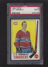 1969 Topps #5 J.C. Tremblay, PSA 9 MINT, Vintage Canadiens NHL Hockey 1969-70