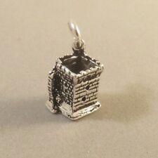 .925 Sterling Silver 3-D BLARNEY CASTLE CHARM NEW Stone Ireland 925 TR155