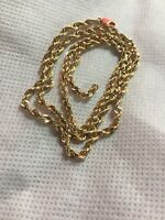 Yellow Gold Rope 10 Kt Chain Scrap Or Wear 18 Inches 3mm Lobster Lock