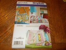 Simplicity Pattern 2617 ~ Purses/Bags, Make Up Bags, Tissue Holder, Key Ring
