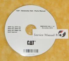 SEBP4500 Caterpillar C27 C-27 Generator Set Parts Manual Book CD
