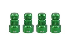 4 TRUE SPIKE GREEN ALUMINUM WHEEL RIM AIR VALVE STEM COVERS CAP SET FOR JEEP