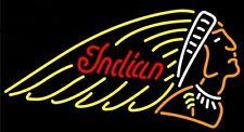 "Indian Motorcycle Advertising Display Beer Bar Neon Light Sign Pub Store 17""×14"""