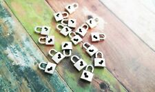 20 Lock Charms Heart Lock Antiqued Silver Bulk Charms Wholesale Charms