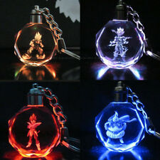 Dragon Ball Z Saiyajin Son Goku Trunks Crystal Key Ring Chain LED Light Pendant