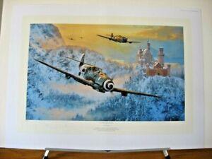 Up Amongst Eagles Messerschmitt Bf109 Me109 Anthony Saunders Signed Aviation Art