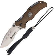 USMC Folding Pocket Knife New 5 inch Marine Fldr  Desert 4Mm M-A1020TNCS