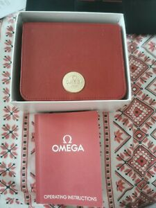 Original Omega Box for Swiss Automatic Seamaster booklet card holder and manual