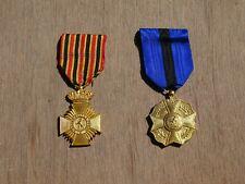 2 ancienne medaille belge armee merite anciennete et l union fait la force