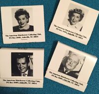 Lucille Ball I LOVE LUCY Desi Arnaz VIVIAN VANCE Bill Frawley SET OF MATCH BOOKS