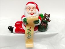 Vintage Plastic Santa Claus Checking His List Stocking Holder Hanger