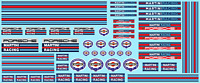 Decals MARTINI RACING 1/43 1/32 1/24 1/18 Décalcomanie Water slide decal
