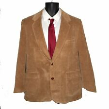 VTG Di Benedetto MILAN Men's 42R Corduroy Blazer Suede Elbows Leather Buttons