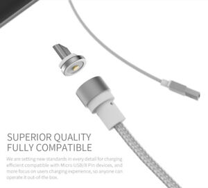 WSKEN Type-C (Round) Magnetic Charging Cable/Charger For Android devices