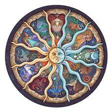 1000pcs Zodiac Round Horoscope Cardboard Puzzle Toys DIY Jigsaw Puzzle Xmas Gift