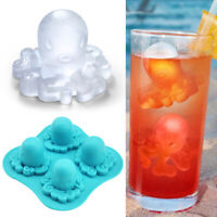 Silicone 4 Grids Octopus Pattern Frozen Ice Cube Trays Jerry DIY Mold Maker Hot