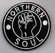 NORTHERN SOUL KEEP THE FAITH FIST NEW SEW ON / IRON ON PATCH - RARE SOUL SCENE