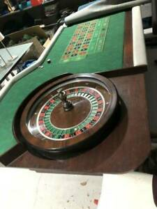 Professional Roulette Casino Wheel Cammegh Solid Timber table