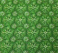 Green Tile Damask BTY Unbranded 100% Cotton Fabric