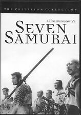 Seven Samurai (DVD, 1998, Criterion Collection) Rare first printing (203 min)