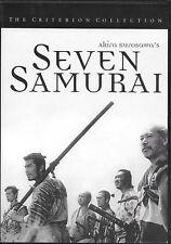 Seven Samurai (Dvd, 1998, Criterion Collection) Rare first printing (203 min)