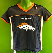 J652/195 NFL Denver Broncos Reversible Flag Football Jersey Youth Medium 10-12
