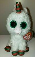 Ty Beanie Boos - SNOWFALL the Christmas Unicorn (6 Inch)(UK Exclusive) NEW MWMT