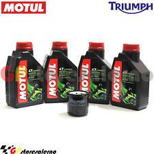 TAGLIANDO OLIO + FILTRO ORIGINALE MOTUL 5000 10W40 4L TRIUMPH 800 TIGER XCA 2011