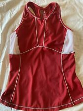 New listing Desoto Sleeveless Triathlon Sleeveless Racerback Cycling Jersey Red Womens Small