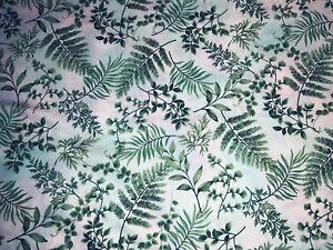 Green Fern Leaf Nature Beauty Forest Botanical Ferns Print Curtain Valance