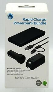 New Car / Home / Portable Charger Rapid Charge Powerbank Bundle by AT&T USB-C