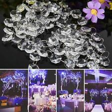 33FT Crystal Clear Acrylic Bead Garland Chandelier Hanging Wedding Supplies New
