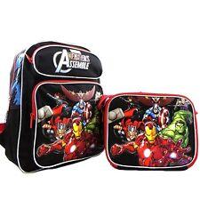 "Marvel Avengers Assemble 16"" Backpack &  Lunch Bag Set -"