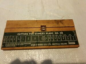 stanley no 50 Plane cutters Blades Carpentry Vintage Tools Hand Plane full set