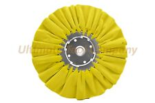 """10"""" DIA Orange/Yellow Airway Buffing Wheel 5/8"""" Arbor 16 PLY Renegade Products"""