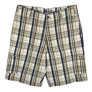 Tommy Bahama Mens Sz 33 Plaid Walking Golf Shorts Flat Front Pockets Silk/Cotton