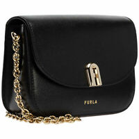 NWT Furla Ladies 1927 Mini Crossbody Bag in Nero 1060029-BAON-ARE-09A Black