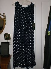 NWT Blue&White Polka dot dress by Lauren for Ralph Lauren size 10