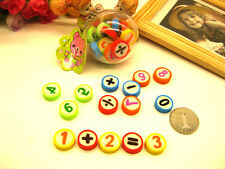 15pcs Kids Colourful Number Maths Erasers Rubbers Stocking Fillers Party Gifts
