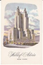 "New York NY ""The Waldorf Astoria Hotel"" Postcard New York *FREE U.S. Shipping*"