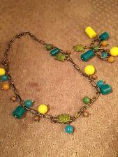 J. Crew Crystal Turtle Tortoise Necklace And Bracelet Euc  Rare