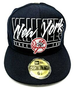 NEW YORK YANKEES blue cap / hat - size 6 5/8  ; 53cm ; Youth / Child's hat