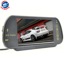 "7 "" TFT LCD Car Rearview Mirror Monitor SD USB MP5 FM Transmitter Car Camera DVR"