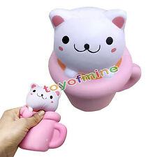 Colossal Squishy Cup Cat lenta crema in aumento regalo profumato fragile