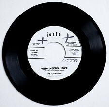 THE OVATIONS Who needs love PROMO PROMOTIONAL WHITE LABEL US josie 916 single SP