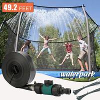 49ft Trampoline Sprinkler Spray Waterpark Game Backyard Pool Play Fun Kids Toy